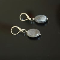 Labradorite earrings, leverback earrings, gemstone earrings, dangle earrings, sterling silver earrings