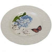 Ivory Botanical Breakfast Plate | DotComGiftShop