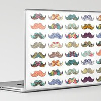 &quot;Mustache Mania&quot; Laptop &amp; iPad Skin by Bianca Green | Society6