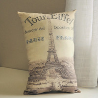 Tour Eiffel Pillow by lisawinestudios on Etsy