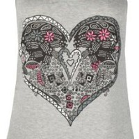 Amazon.com: FULL TILT Boho Heart Womens Tank: Clothing