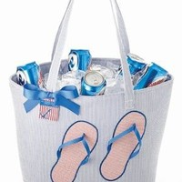 Flip Flops Insulated Beach Party Bag by Mud Pie
