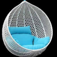 Ravelo - Vibrant Look Porch Hanging Chair With Stand - PE-03WT