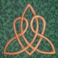 Celtic Heart Love Knot Triquetra of Everlasting Love Wood Carved | signsofspirit - Woodworking on ArtFire