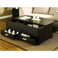 Garretson Storage Box Coffee Table in Espresso Finish:Amazon:Home & Kitchen