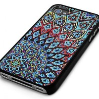 Black Snap-On iPhone Cover Case for 4/4S iPhone - Aztec Mayan Mosaic Design - Height:4.5 Inches X Width: 2.5 Inches X Thickness:0.5 Inches:Amazon:Cell Phones & Accessories