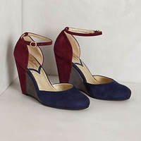 Anthropologie - Colorblocked Suede Wedges