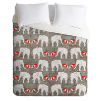 DENY Designs Home Accessories | Holli Zollinger Elephant And Umbrella Duvet Cover