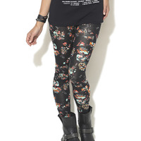 Flirty Floral Print Legging | Shop Just Arrived at Wet Seal
