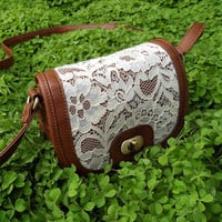 Sweet Lace Leather Bag