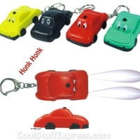 Cartoon Car LED Keyring With Honking Sound, Fun & Unique Gifts