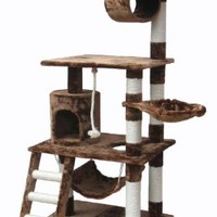"Go Pet Club Brown 62"" Cat Condo F68"
