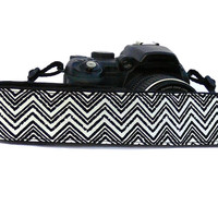 Chevron Camera Strap. Geometric dSLR Camera Strap. Camera accessories