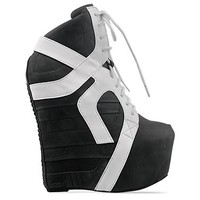 Jeffrey Campbell Aksana in Black White Washed at Solestruck.com