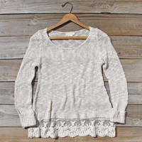 North Forest Knit Thermal in Sand, Cozy Women's Sweaters