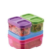 Rubbermaid 1866738 LunchBlox Kid's Tall Lunch Box Kit, Purple/Pink/Green