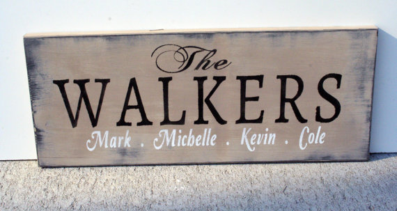 Custom Wood Sign Personalized Name Sign from