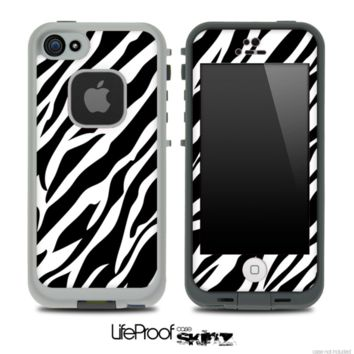 Vector Fancy Zebra Skin for the iPhone 5 or 4/4s LifeProof Case - iPhone