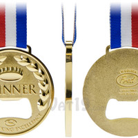 Winner Gold Medal Bottle Opener: Celebrate drinking excellence