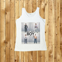 Fall Out Boy Shirt Tank Top Pop Punk T-Shirt Women Shirts Size S, M, L