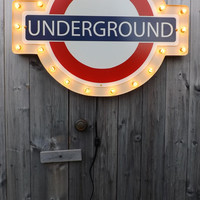 Underground sign London subway marquee