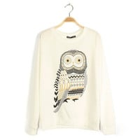 Grey Owl Sweater Shirt