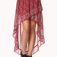Flounced High-Low Bandana Skirt