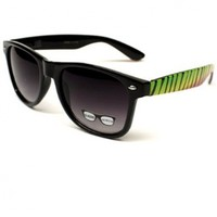 Rasta Reggae Vintage Wayfarer Retro Sunglasses Zebra Black W81:Amazon:Clothing