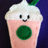 4 Inch Felt Frappe Drink Magnet by TheIgnoredMiddle on Etsy