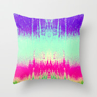 Surf II Throw Pillow by M Studio