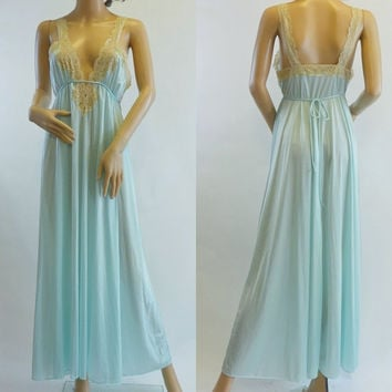 Vintage Tiffany Blue Night Gown by Kayser
