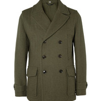 Hardy Amies Wool Peacoat | MR PORTER