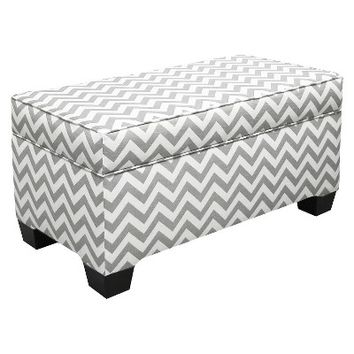 Storage Bench Upholstered in Fashion Fabrics - Gray