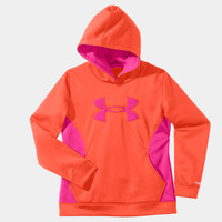 Girls' Armour Fleece Storm Big Logo Hoodie | 1239166 | Under Armour US