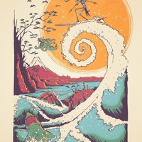 """Surf Before Christmas"" - Art Print by Victor Vercesi"