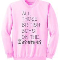 NEW - British Boy Internet Crewneck Sweatshirt