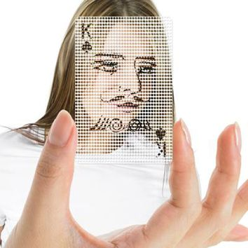 See-Through Poker Face Cards - Default