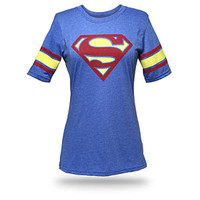 Superman Hockey Stripe Babydoll