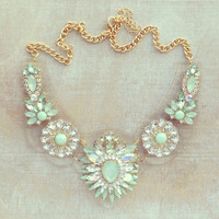Pree Brulee - Clear Bib Milan Statement Necklace