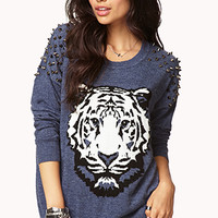 Standout Spiked Sweater | FOREVER 21 - 2079118510