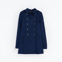 SHORT CROSSOVER TRENCH COAT - Coats - Woman | ZARA United States