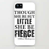 Little But Fierce  iPhone & iPod Case by LookHUMAN