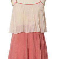 Trendy &amp; Cute Clothing - Ya Los Angeles - Two Tone Pleated Dress - chloelovescharlie.com | &amp;#36;40.00
