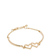 ASOS | ASOS Double Heart Fine Bangle at ASOS