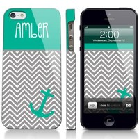 Chevron Anchor Sailor Nautical Personalized Phone Case iPhone 4, 5, Galaxy S3, S4