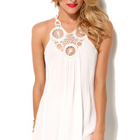 Mandala Racerback Crepe Tank Dress