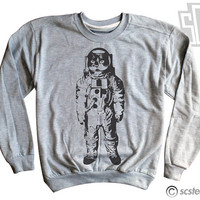 Space Kitty Sweatshirt - Womens Cat Sweater Pullover 126