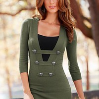 Olive Button detail sweater from VENUS