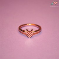 iShopCandy.com | Rose Gold Chevron Midi Ring