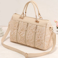 Retro Lace Handbag & Shoulder Bag